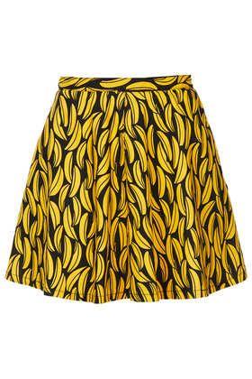 MOTO Banana Print Denim Skirt - Skirts  - Clothing