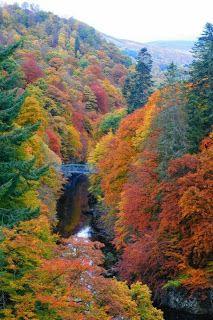 Pitlochry, Scotland in autumn