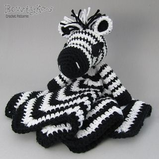 This cute zebra lovey (also known as a security blanket, lovie, or blankey) will be a perfect toy for your little one to snuggle up with or as an accessory to a zoo themed nursery.