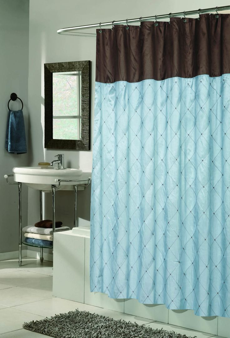 Teal and black shower curtain - Royal Bath Diamond Design Balmoral Fabric Shower Curtain In Black Taupe Size 70