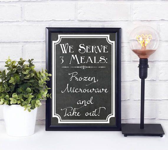 Küche Digital Print Poster Wandkunst Tafel Schild Sofort