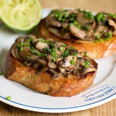 Crostini | Champignon-Crostini Rezept | Küchengötter