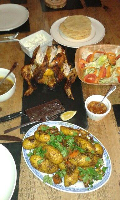 Jamie Oliver empire chicken. Yummy!