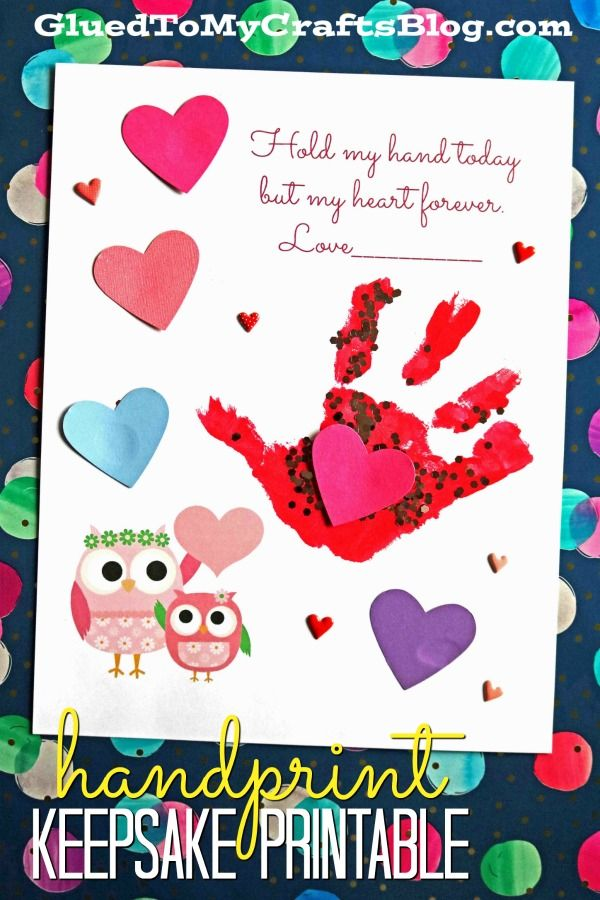 fc600559b60 Hold My Hand Today But My Heart Forever - Keepsake Printable - Handprint  Kid Craft - Valentine's Day - Mother's Day
