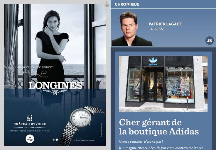 Cher gérant de la boutique Adidas - La Presse+