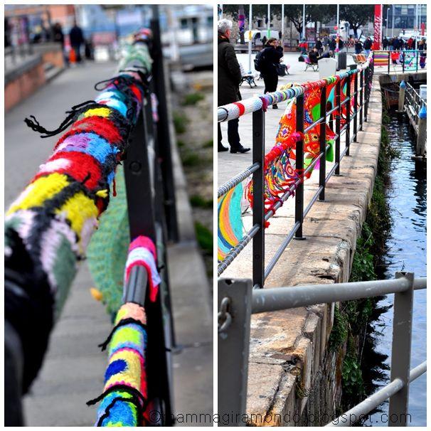 Intrecci Urbani. Yarn bombing a Genova