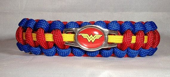 Custom Handmade Wonder Woman Paracord Bracelet Made with Hand Made Wonder  Woman Charm