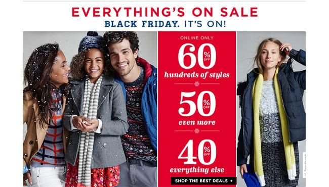 Old Navy Black Friday 2015 Online Sale offer Steeper Discount than in Stores