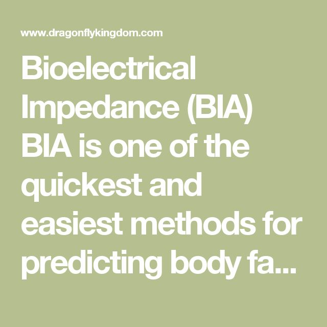 Bioelectrical Impedance (BIA) BIA is one of the quickest and easiest methods for predicting body fat. However, the convienience of this method comes at a.   Bioelectrical Impedance Bodyfat Testing (BI) - Topend Sports   www.topendsports.com/testing/tests/BI.htmProxy Highlight   equipment required: A Bioelectric Impedance Analyzer is a sophisticated scientific instrument, used in research and analysis. On a budget level, many bathroom ...   Bio-Electrical Impedance Analysis (BIA) - Body Mass…