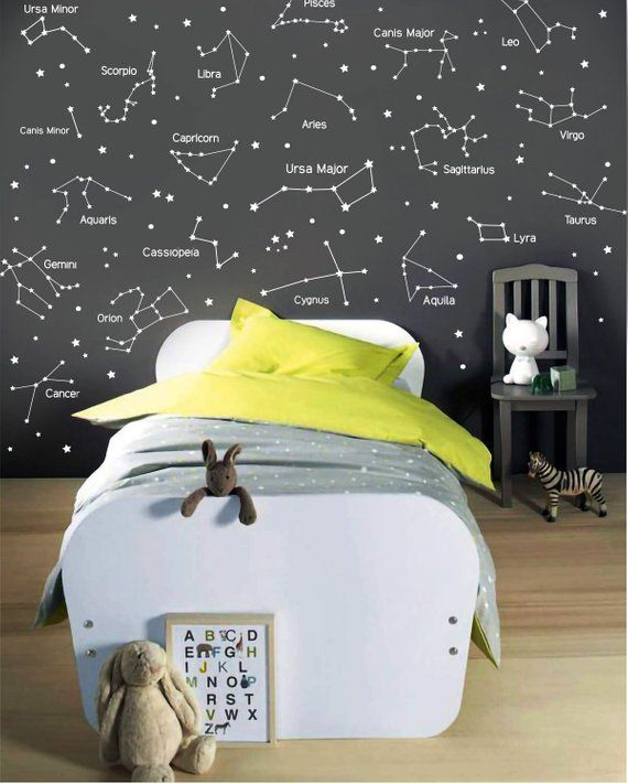 27 Zodiac Constellation Wall Decals Star Decals Zodiac Gift Vinyl Wall Decals Star Wall Stickers Wall Decor Gift For Her Ga160 I With Images Constellation Wall Decal Vinyl Wall Decals Wall Decals