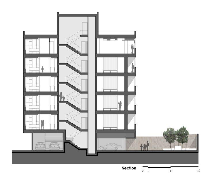 Khish-Khaneh Residential Building,Section