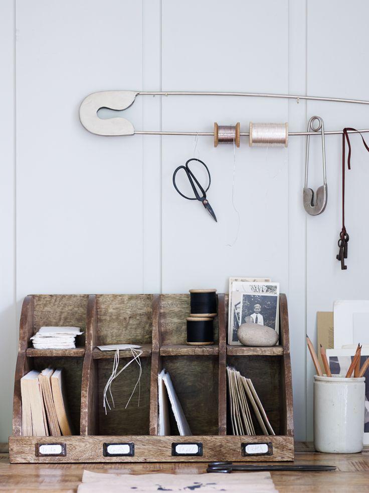 Wooden Letter Rack NEW