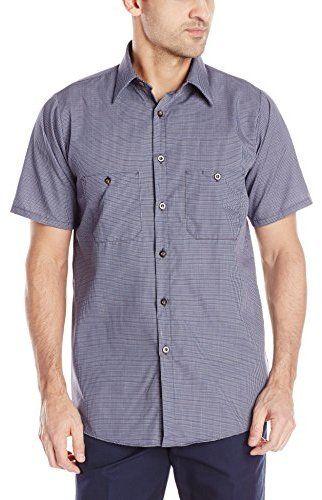 Red Kap Men's Micro Check Uniform Shirt
