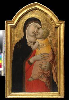 Pietro Lorenzetti - Madonna col Bambino - tempera su tavola - Milano, Coll. Privata