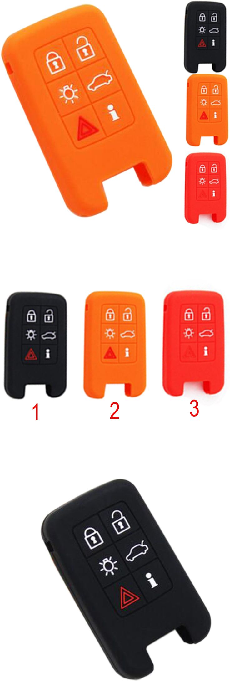 New Silicone Car Key Cover Silicone car key cover case for Volvo V40 S80 XC60 S60L V60 6buttons smart car key Cover