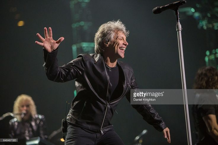 Jon Bon Jovi of Bon Jovi performs on stage during the 'This House Is Not For Sale' tour at Viejas Arena on March 5, 2017 in San Diego, California.