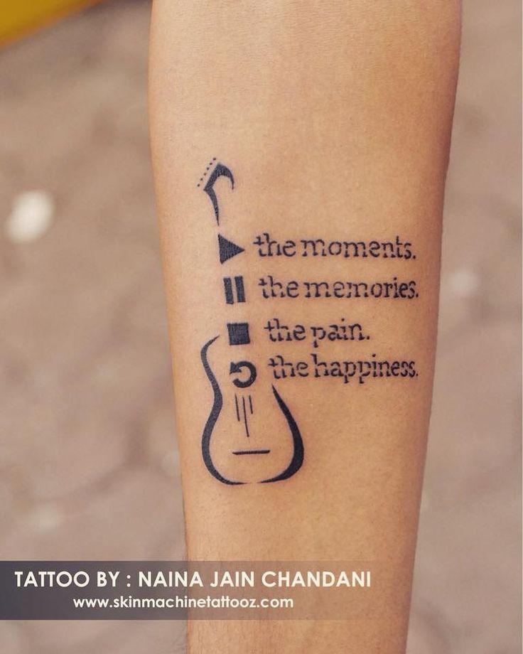 22 Music Tattoo Designs Ideas: 737 Best Tattoo Art By SKIN MACHINE TATTOO STUDIO. Bhopal