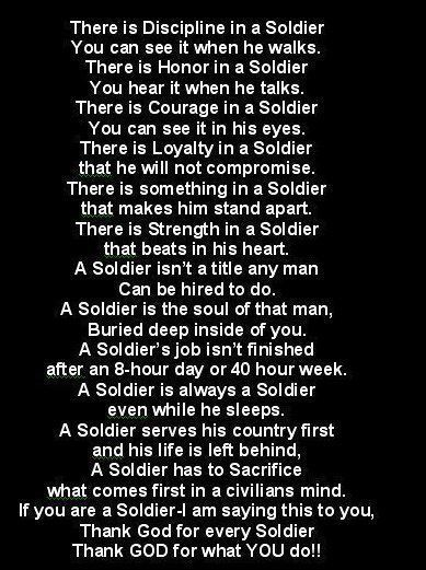 Thank God for all our Soldiers, Airmen, Marines, Sailors, & Coasties!!