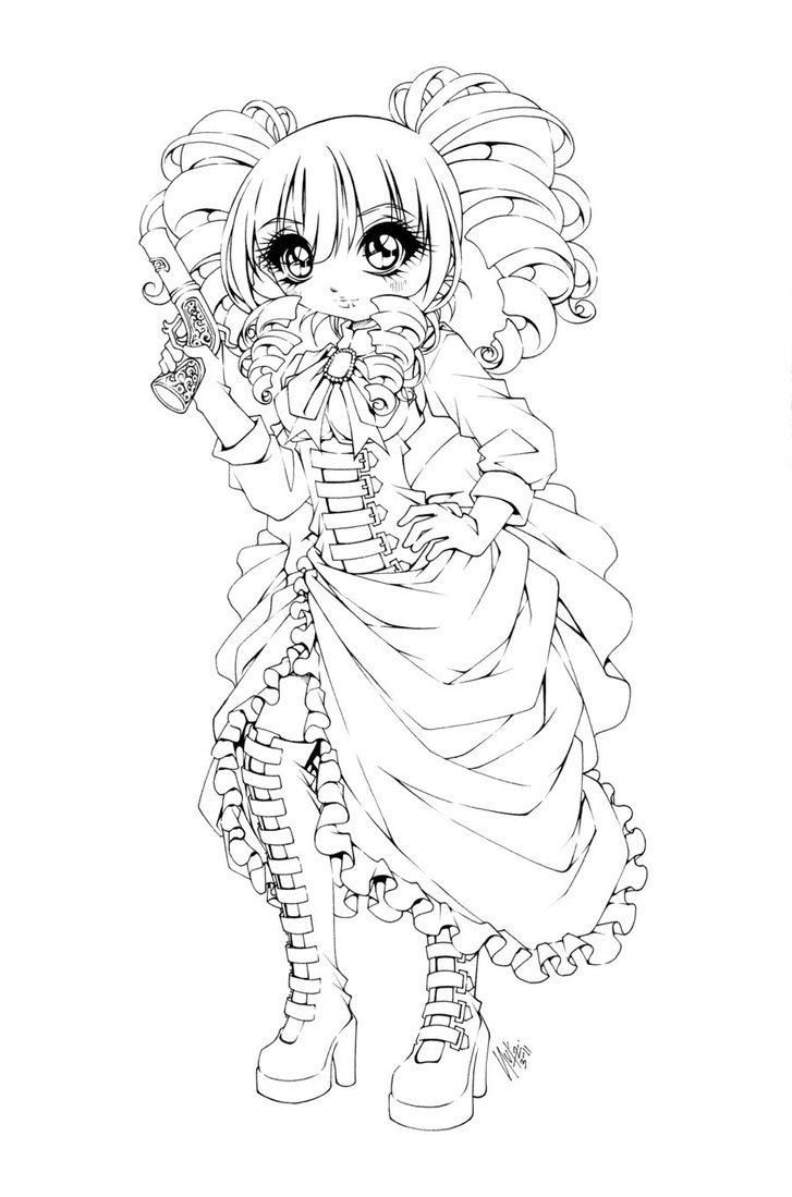 Steampunk Pin Up Girls Coloring Pages For Adults Sketch ...