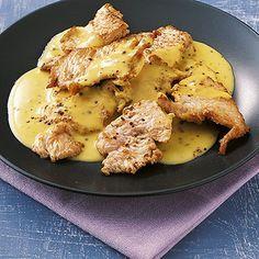 Putenstreifen in Senfsahne Rezept | Küchengötter (Chicken Healthy)