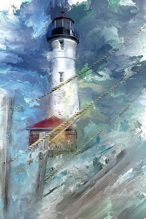 Crisp Point Lighthouse Michigan Evie Carrier