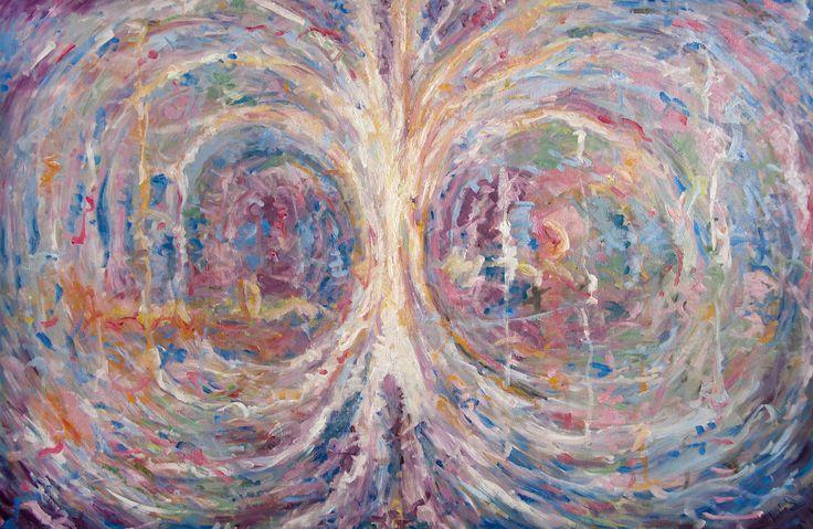 TREE OF LIFE, Original painting, Art for sale, Contemporary art, Jakub Jecminek art, Oil on canvas, Handmade picture from artist by JakubJecminekArt on Etsy
