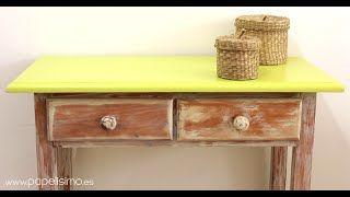 pintar friso de madera en blanco envejecido - YouTube