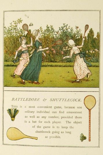 Victorian illustration of game 'Battledore and shuttlecock', an ancestor of badmintonSummer Gardens, Girls Plays, Plays Battledor, Summer Parties, Art Prints, Shuttlecock Plays, Parties Ideas, Games Battledor, Badminton Awesome