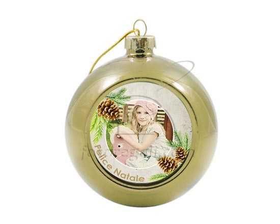 Palla di Natale in vetro colorato Pine cone