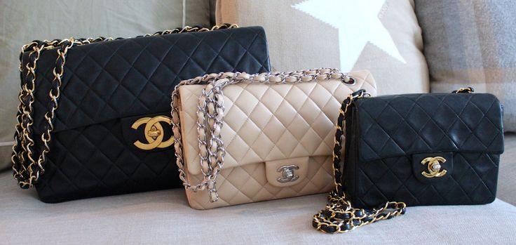 My Chanel bags, Jumbo XL, Medium and Mini http://mankka1717.blogspot.fi/p/chanel.html