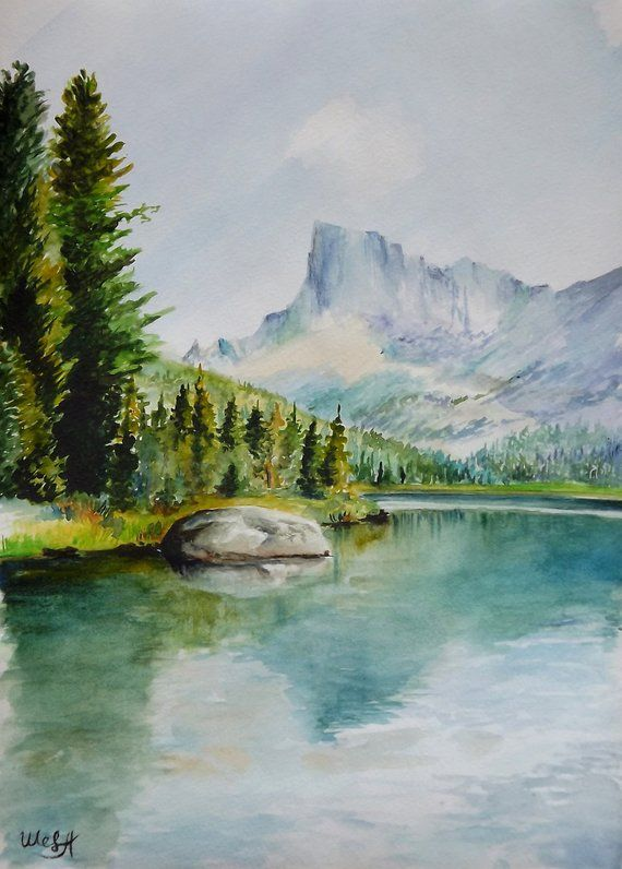 Custom Watercolour Landscape Watercolor Painting Landscape