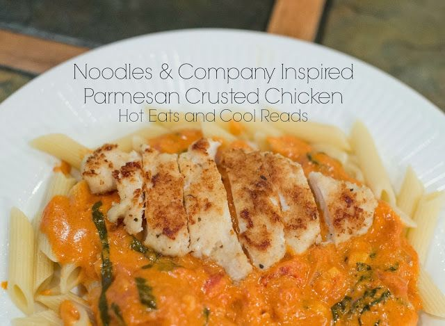 Love this Copycat recipe! Noodles and Company Inspired Parmesan Crusted Chicken from Hot Eats and Cool Reads