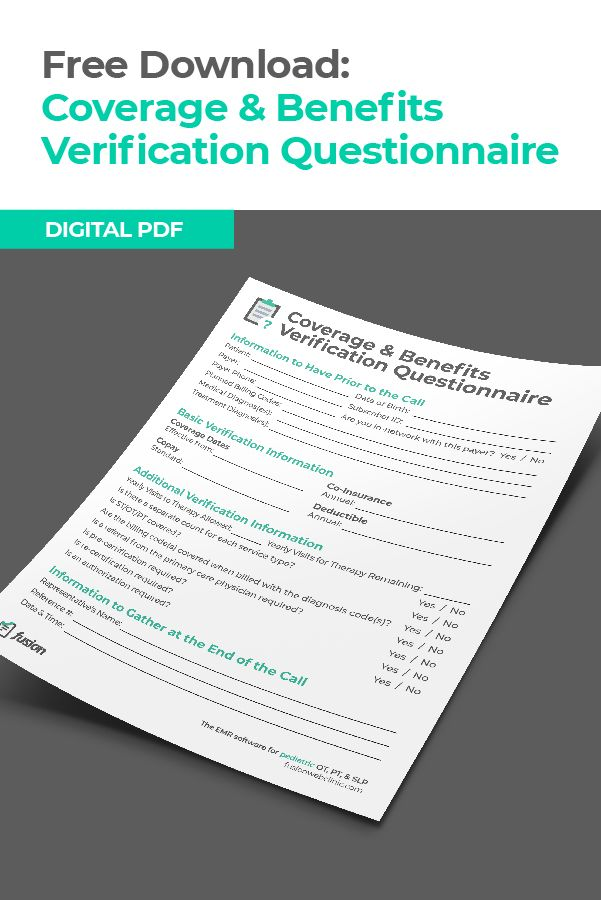 Use This Questionnaire To Verify Coverage And Make Sure You Get