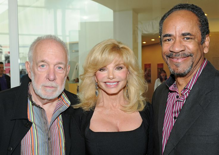 Howard Hesseman, Loni Anderson, and Tim Reid at the WKRP in Cincinnati reunion at the Paley Center in LA.