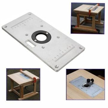 Only US$22.69, buy best 235mm x 120mm x 8mm Aluminum Router Table Insert Plate For Woodworking Benches sale online store at wholesale price.US/EU warehouse.