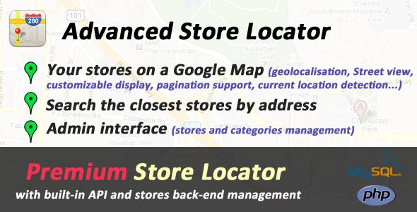 Advanced PHP Store Locator #BusinessListing, #FindAStore, #GeocodeAnAddress, #Geolocalisation, #GoogleMaps, #GoogleMapsApi, #MapLocation, #StoreLocator, #StoresSearch, #Yougapi http://goo.gl/es8cF6