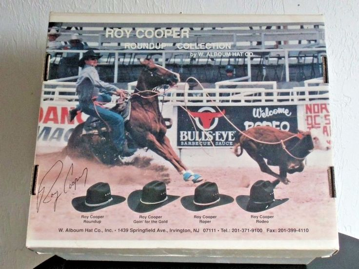 Roy Cooper Roundup Collection Cowboy Hat by Alboum Hat Company with original Box #AlboumHatCo #Cowboy