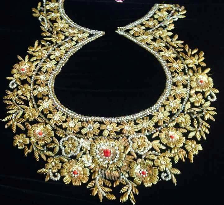 Indian Zardozi embroidery