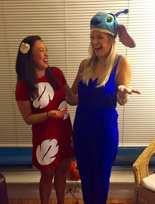 Your 'ohana, Lilo and Stitch: | 35 Borderline Genius Halloween Costumes For Movie Lovers
