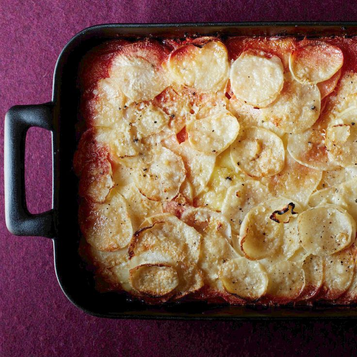 Ombré Potato and Root Vegetable Gratin Recipe  - Carla Hall | Food & Wine