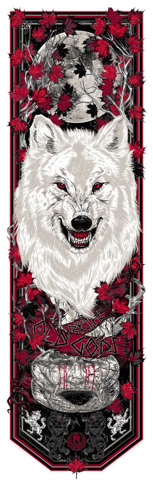 Image of BY THE OLD GODS - Call the Banner series - WHITE WOLF art print