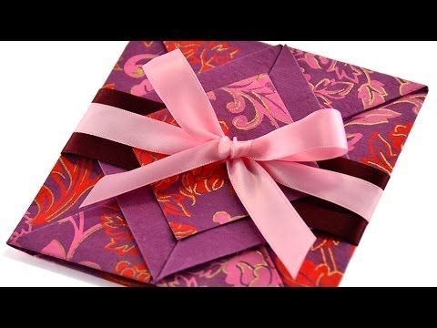 Valentine DIY *Elegant Handmade Origami Card* Message of love can't be delivered sweeter than this! - YouTube