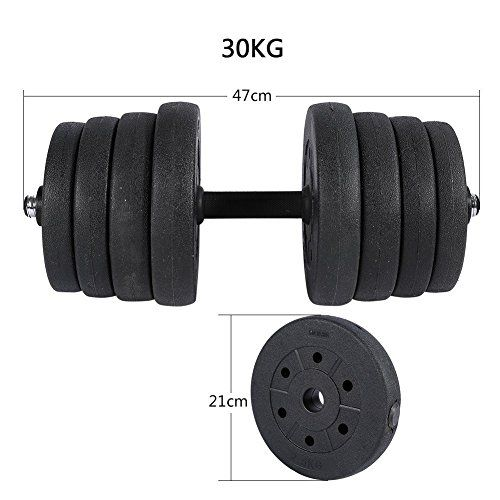 Weight Dumbbell Set 30KG (2 Pcs) Adjustable Cap Barbell Plates Gym Strength Workout http://adjustabledumbbell.info/product/weight-dumbbell-set-30kg-2-pcs-adjustable-cap-barbell-plates-gym-strength-workout/