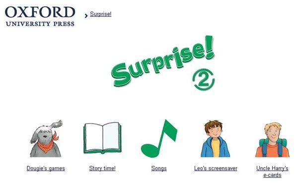 Surprise!, Inglés de 2º Nivel de Educación Primaria, de Editorial Oxford, contiene actividades interactivas complementarias al material didáctico de este nivel.