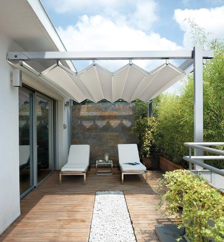 Solar Awning #solar #awning #curtains #shades #sun #summer #shadow #garden #villa #home #design #homedesign #restaurant #follow