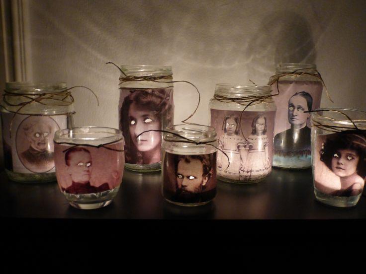 My DIY Lanterns!  Happy Halloween!