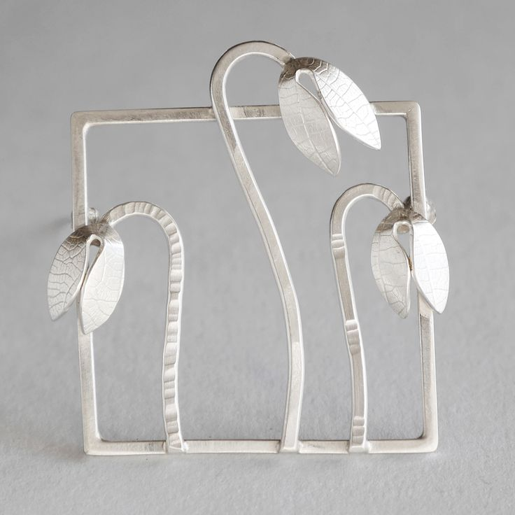 Snowdrops brooch | Contemporary Brooches by contemporary jewellery designer Naomi James