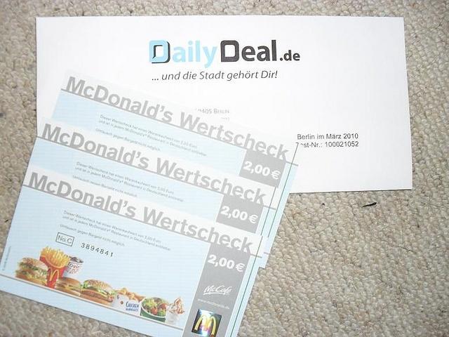 Mcdonalds frankreich coupons