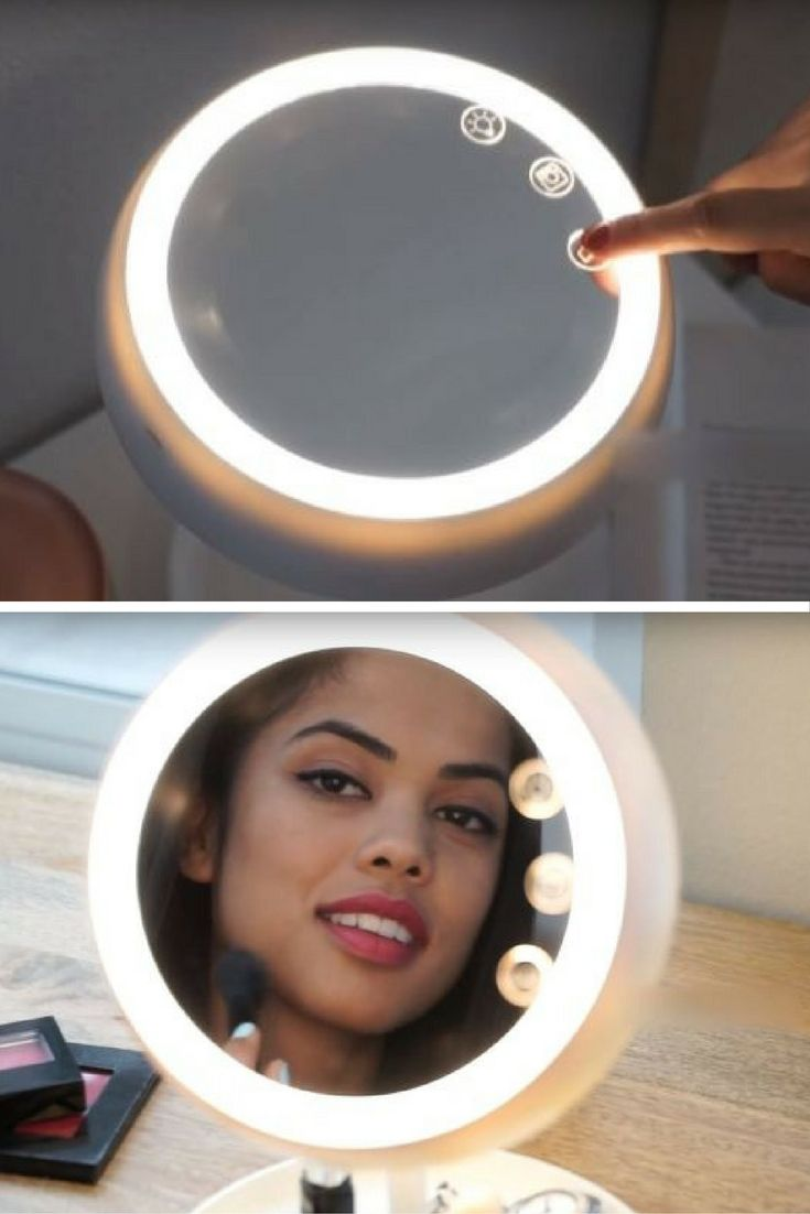 JUNO is a posh makeup mirror with a bunch of features designed for optimal selfie-taking. It has different light settings for indoors, in an office, and evening, so you'll know what your makeup will look like throughout the day, but more importantly, it has a built-in ring light just for taking selfies.
