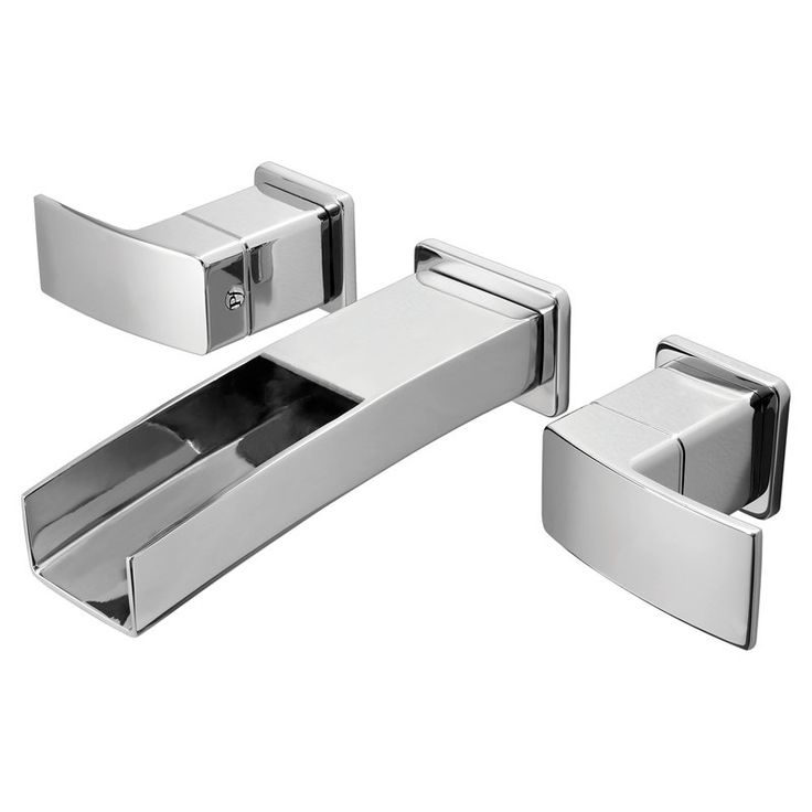Vigo   Dual Handle Wall Mount Faucet in Chrome Finish   Be different  Stand  out with this unique  angular shaped wall mounted Vigo faucet. 1000  images about Bathroom on Pinterest   Bathroom vanity